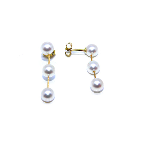 Parsprototo 'Surerstelle' Drop Pearl 18ct Yellow Gold Earrings