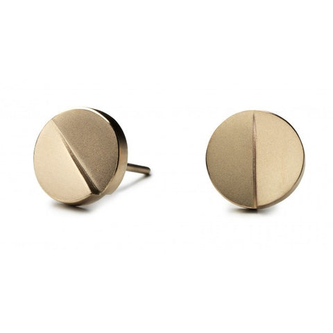 Patrik Hansson Divide Round 18ct Yellow Gold Earrings
