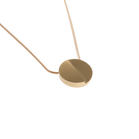 Patrik Hansson Divide Round 18ct Yellow Gold Necklace