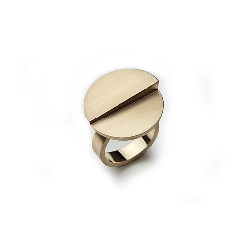 Patrik Hansson Divide Round 18ct Yellow Gold Ring