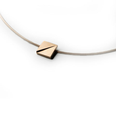Patrik Hansson Divide Square 18ct Yellow Gold Necklace