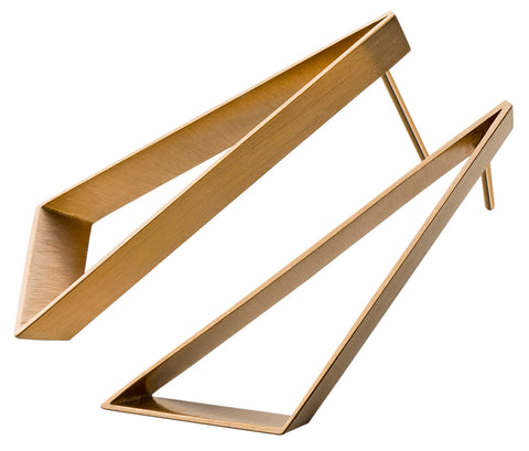 Patrik Hansson Open Triangle 18ct Yellow Gold Earrings