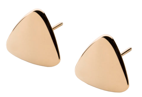 Patrik Hansson Triangle 18ct Yellow Gold Earrings