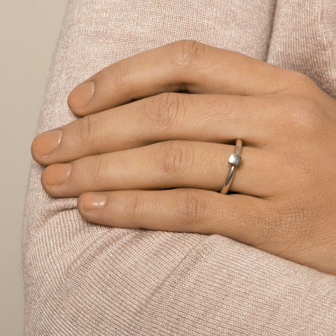 Paul Finch 'Small Square' Silver Ring