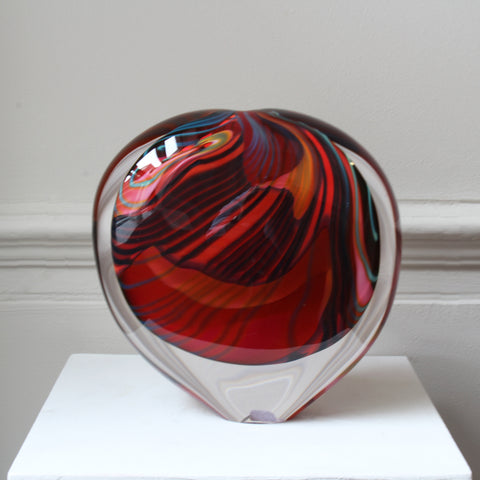 Peter Layton Pink Paradiso Glass Sculpture