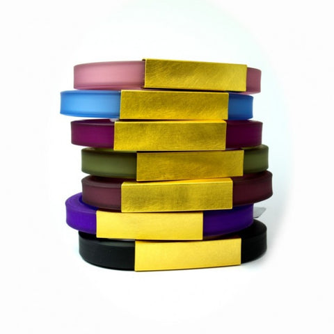 Petra Meiren Wide Gold Plated Square Tube Silver Bracelet