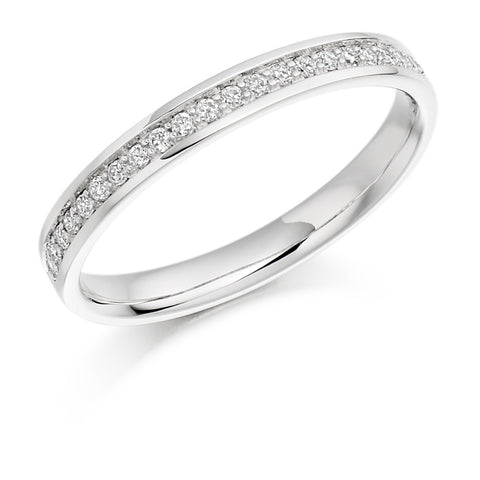 Platinum Pave Set Diamond Ring