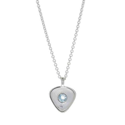 Rionore Interwoven Blue Topaz Silver Necklace