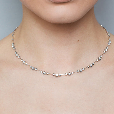 Ronan Campbell Diamond Necklace 18ct White Gold