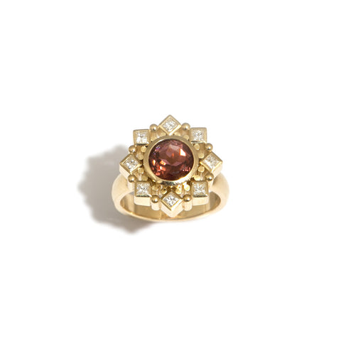 Rudolf Heltzel 18ct Yellow Gold Tourmaline And Diamond Ring