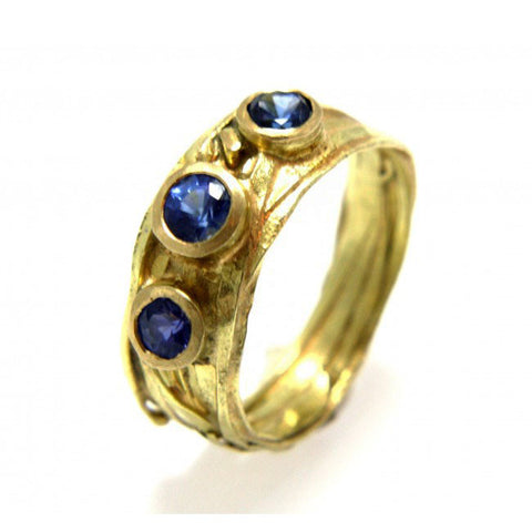 Shimara Carlow 18ct Yellow Gold Wrap Ring and Sapphire.