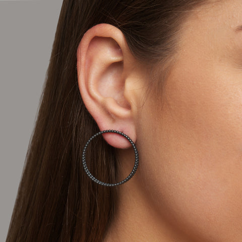 Sophia Epp Double Round Oxidised Silver Earrings