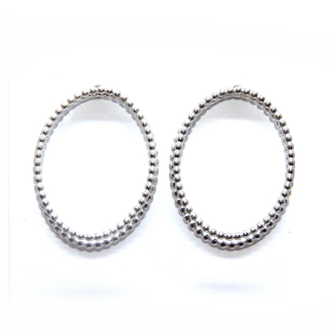 Sophia Epp Oval Double Silver Earrings