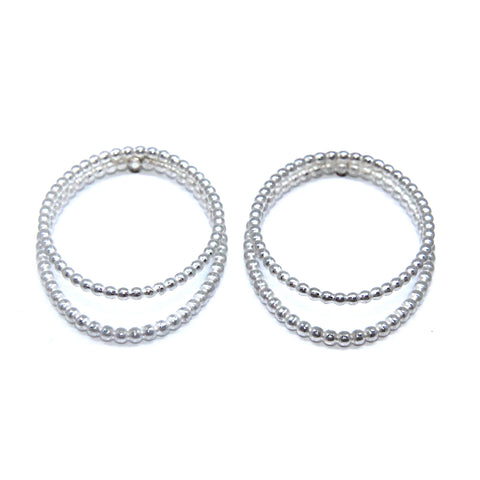 Sophia Epp Double Round Silver Earrings