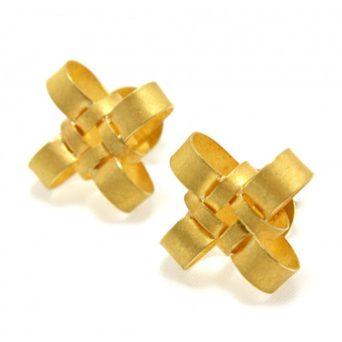 Sophia Epp Knot Yellow Gold Earrings