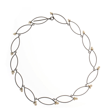 Sophia Epp Oxidised Silver Pearl Necklace