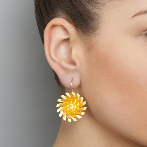 Sophia Epp 'Whirl' Gold Plated Silver Earrings