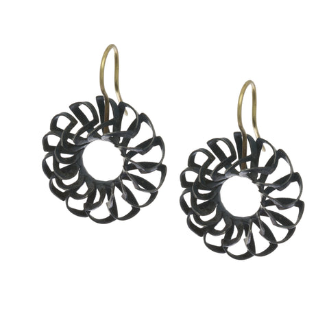 Sophia Epp Yellow Gold Oxidized Silver Earrings