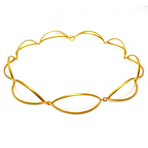 Sophia Epp Yellow Gold Plated Silver Necklace