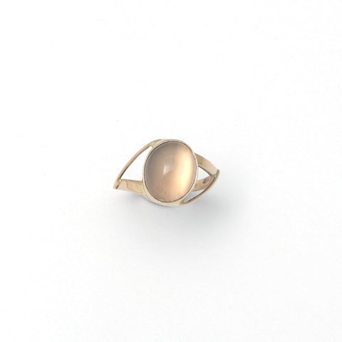 Stephanie Robinson Cat Eye Moonstone 14ct Yellow Gold Ring