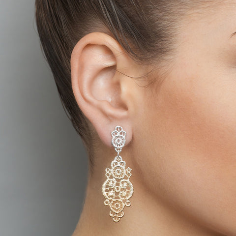 Brigitte Adolph Rose Gold Plated Silver Earrings