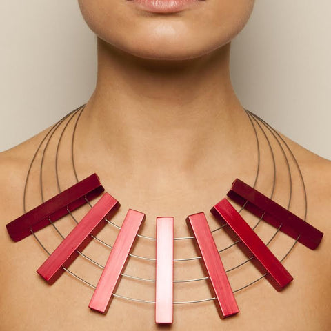 Filip Vanas Red Aluminium Necklace