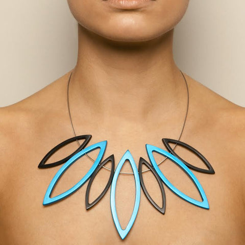 Filip Vanas Large Aluminium Navette Necklace
