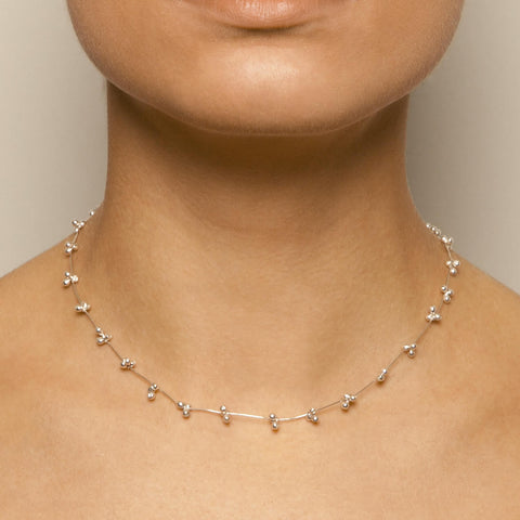 Neeltje Slater T-Bar Clasp Silver Necklace
