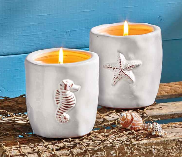 Starfish Citronella Candle Pot