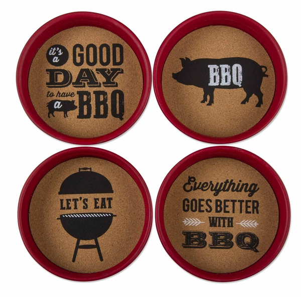 BBQ Quotes Coaster Set of 4