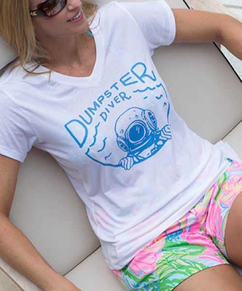 Women's Dumpster Diver Recycled Shirt White