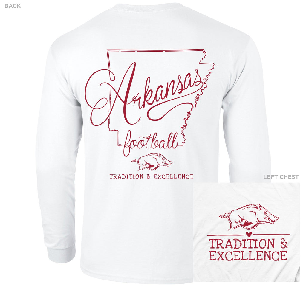Bella + Canvas Arkansas Razorback Crew-Neck T-Shirt