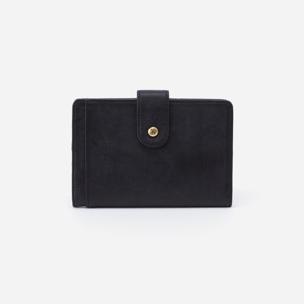 HOBO Pax Passport Wallet Matte Black