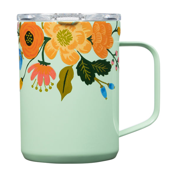 16 oz. Corkcicle Coffee Insulated Mug Gloss Mint Lively Floral