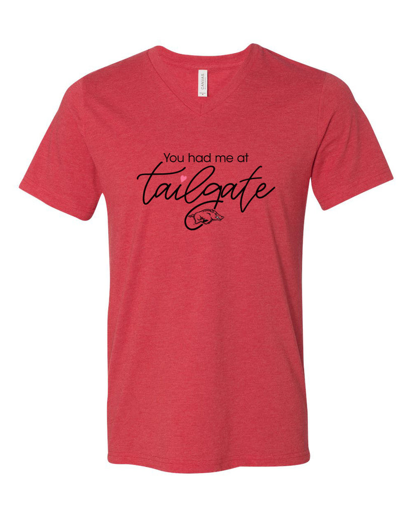 Bella + Canvas Razorback Tailgate V-Neck T-Shirt