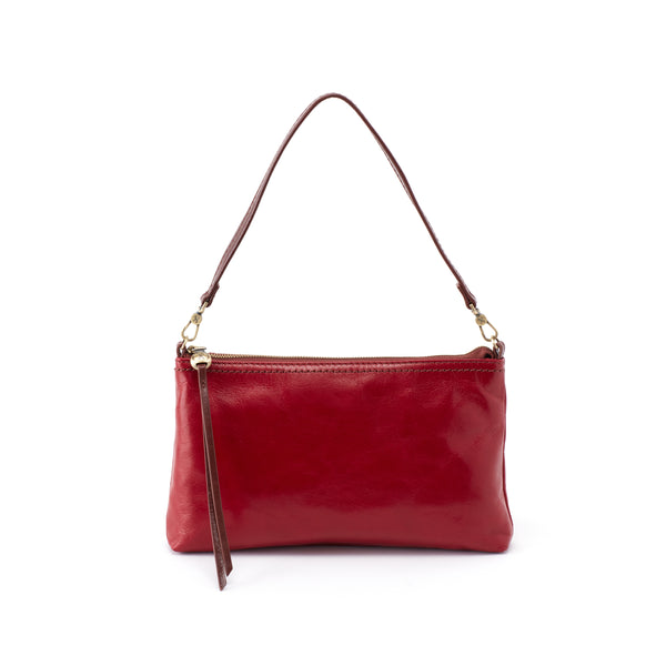 HOBO Darcy Convertible Crossbody Wristlet Clutch Garnet