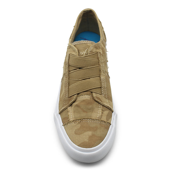 Blowfish Marley Frayed Canvas Sneakers Tannin Camouflage