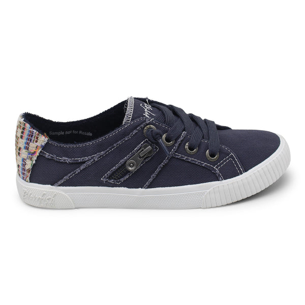 Blowfish Fruit Frayed Canvas Sneakers Blue Tuna