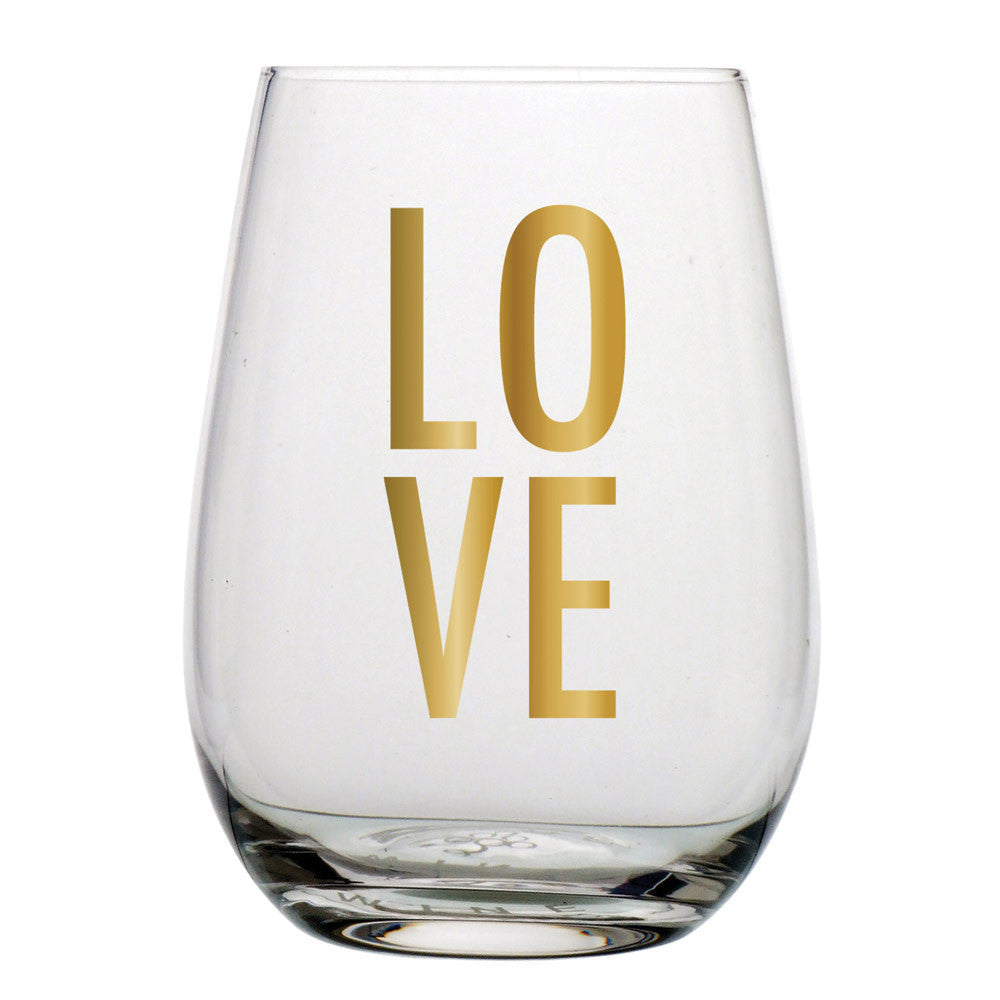 LOVE Stemless Wine Glass