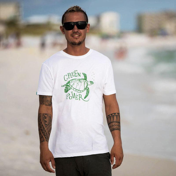 Green Power Sea Turtle Recycled Shirt