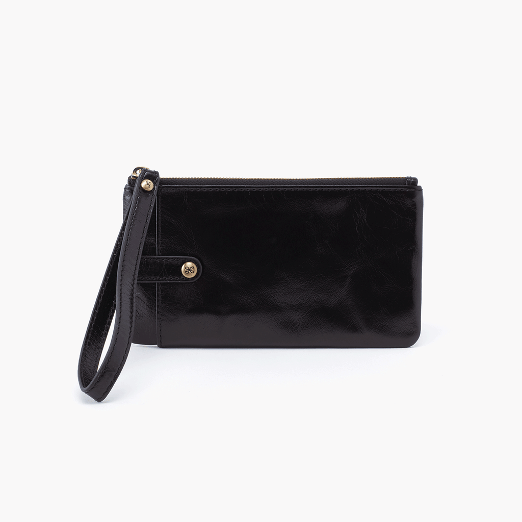 HOBO King Wristlet Wallet Black