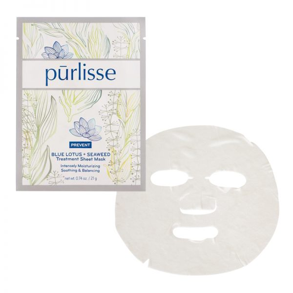 Purlisse Blue Lotus + Seaweed Sheet Masks