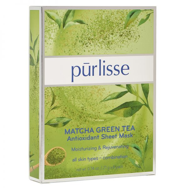 Purlisse Matcha Green Tea Anti-Oxidant Sheet Mask