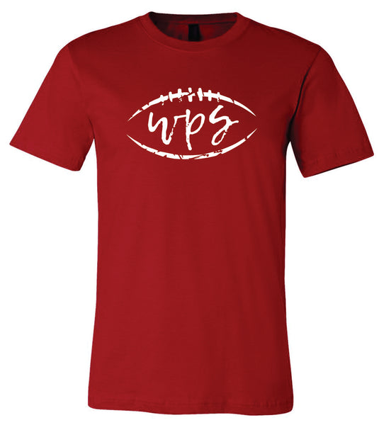 Bella + Canvas WPS Football Crew-Neck T-Shirt Canvas Red