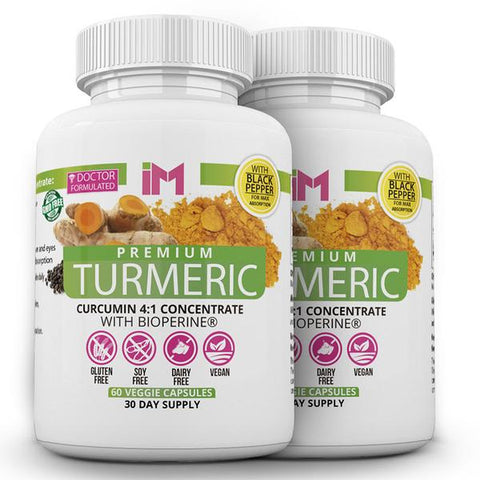 IM Premium Turmeric 4:1 Concentrate with Bioperine - 2 Bottles