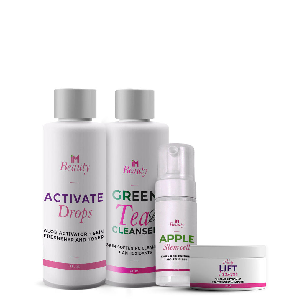 IM Beauty Rejuvenation Pack - IM Apple Stem Cell Moisturizer, IM Green Tea Cleanser, IM Activate, IM Lift