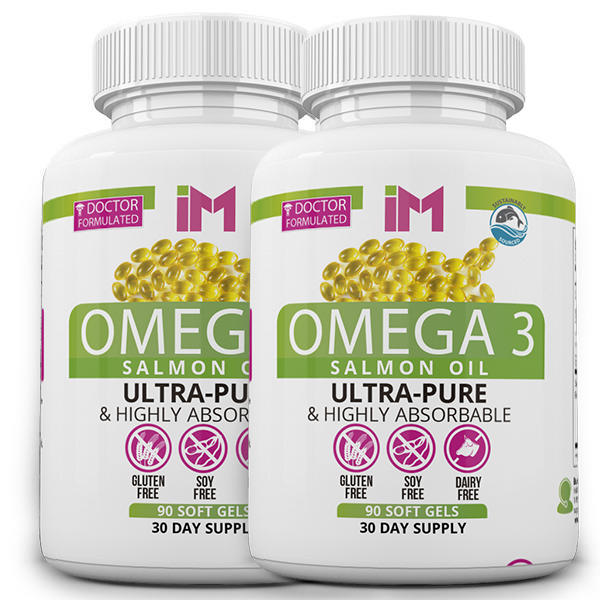 IM Omega 3 Salmon Oil - 2 Bottles