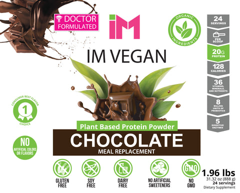 IM Vegan Plant Based Protein Powder - 2 Bottles