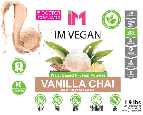 IM Vegan Plant Based Protein Powder - 2 Bottles - OTO