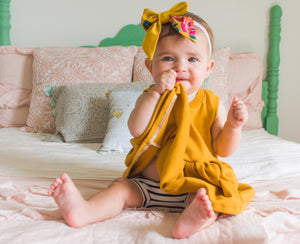 Mustard and Stripes Set